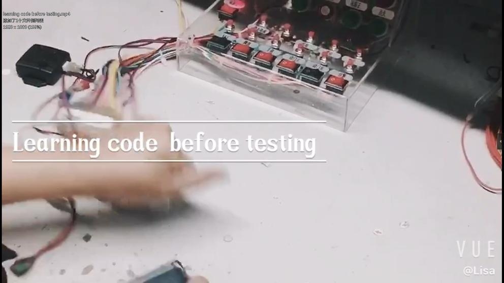Learning code before testing
