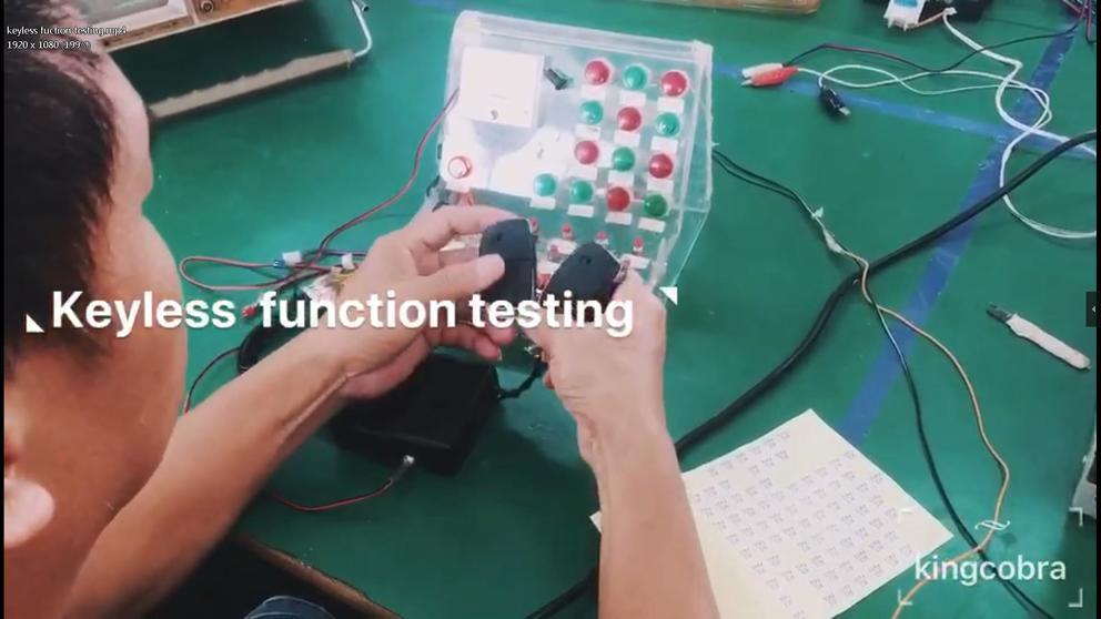 Keyless fuction testing