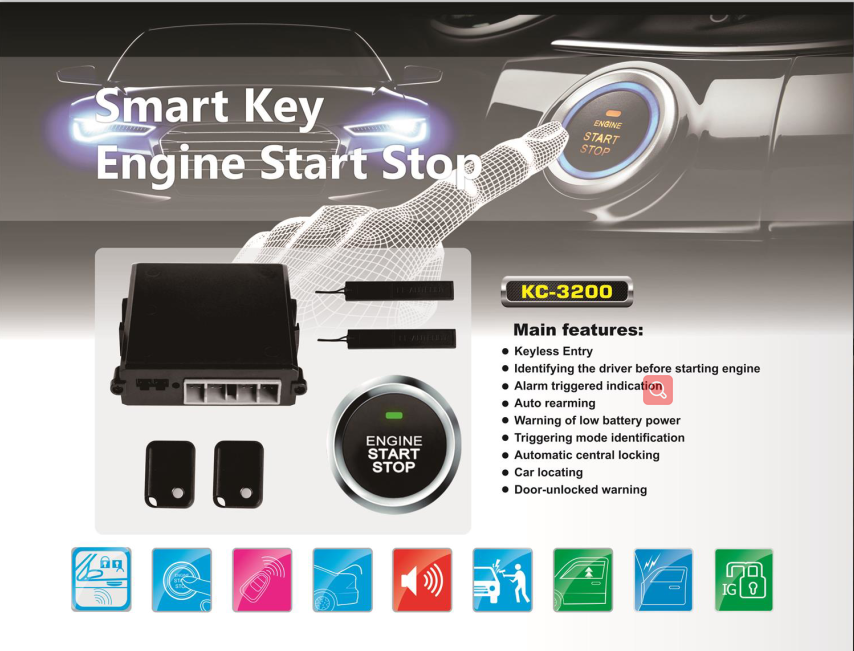 pke engine start / stop system auto reaming for car Kingcobra