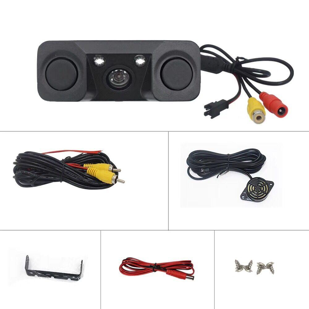 3-in-1 Camera Parking Sensor System with LED lighting Night Vision
