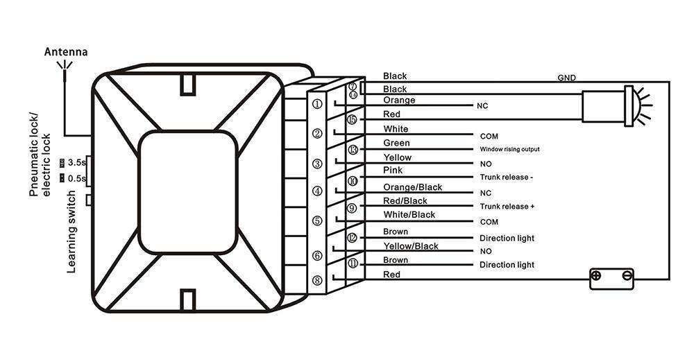 KC-5000J Full Function Keyless Entry System-1