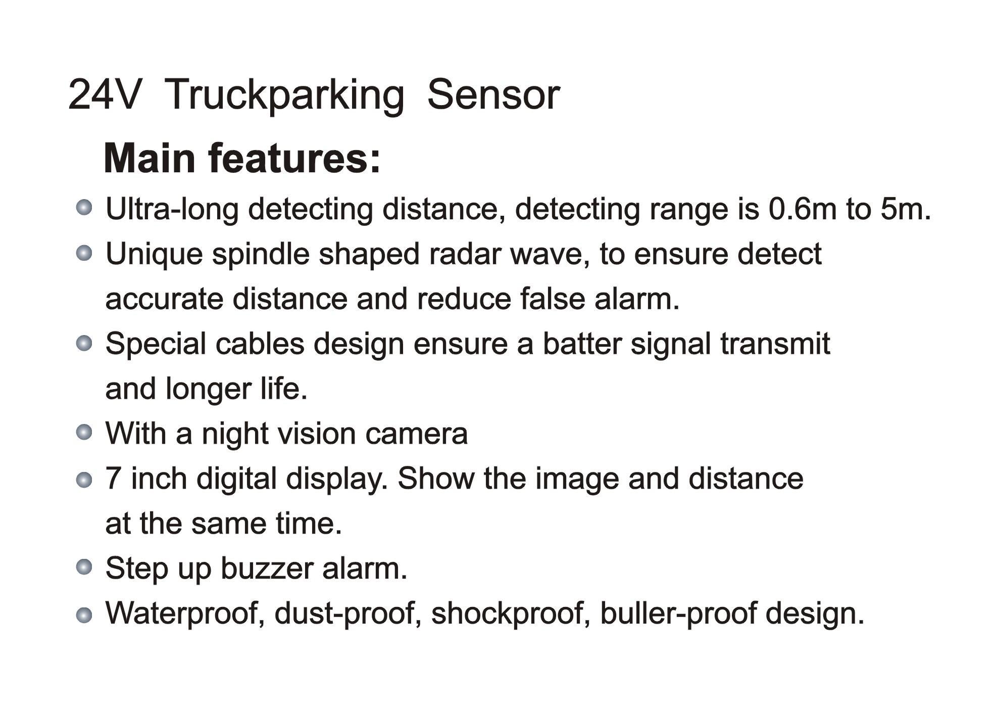 KC-6000T    24V Truck Parking Assistant System-2