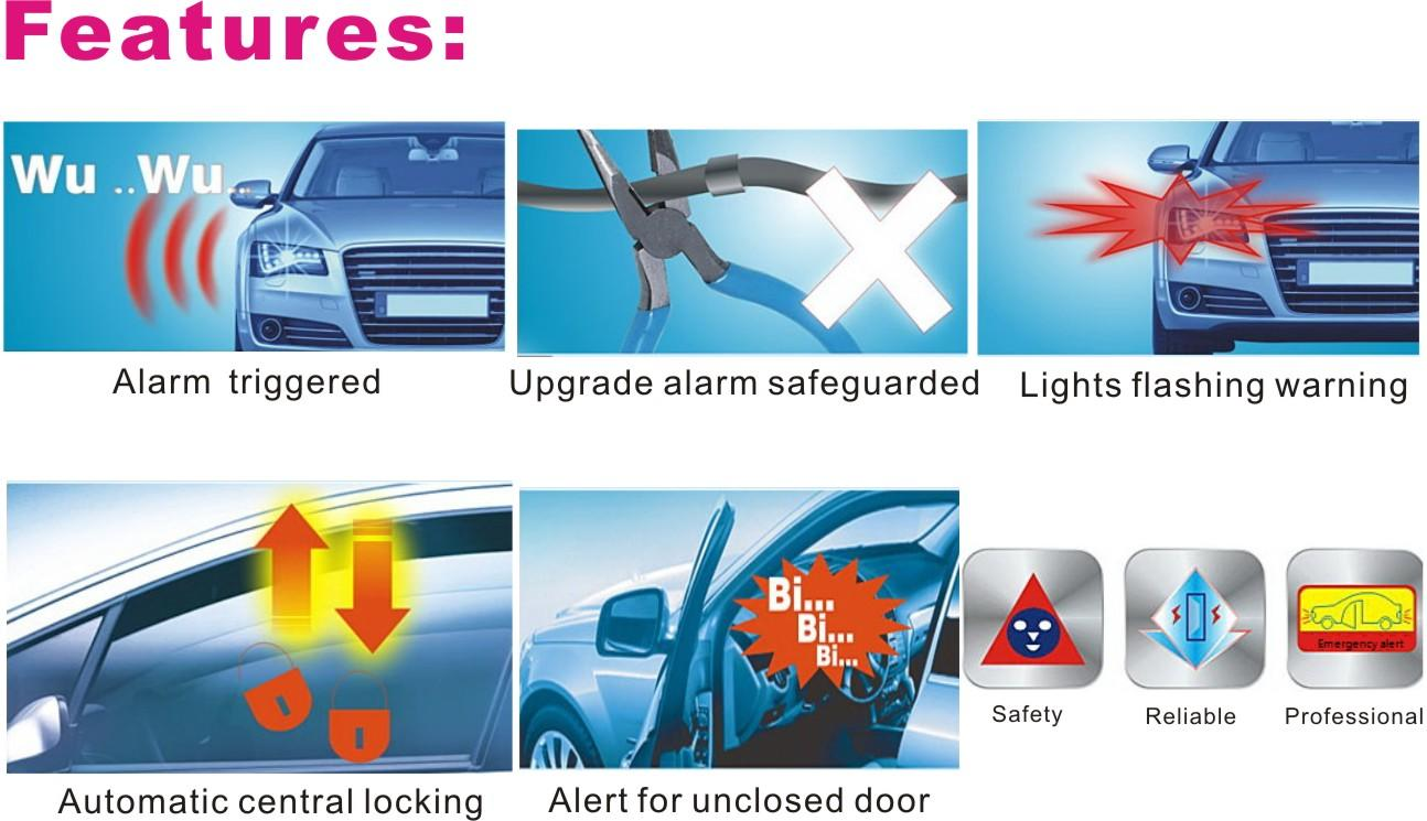 Mexico / Bolivia / Dominica / Chile Upgrade car alarm System for South Americans-1