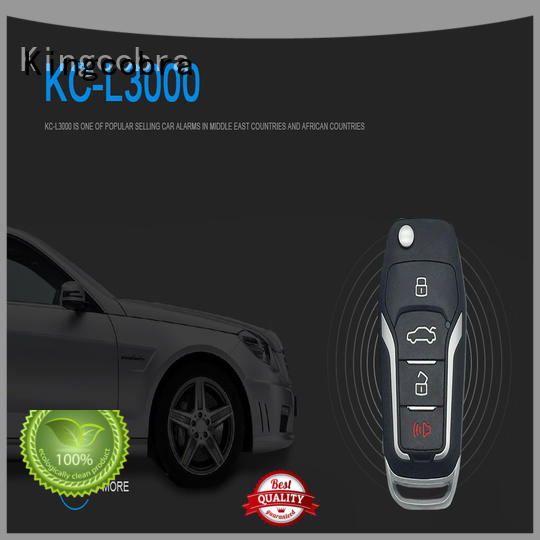 Kingcobra car alarm with remote start with power window output for african