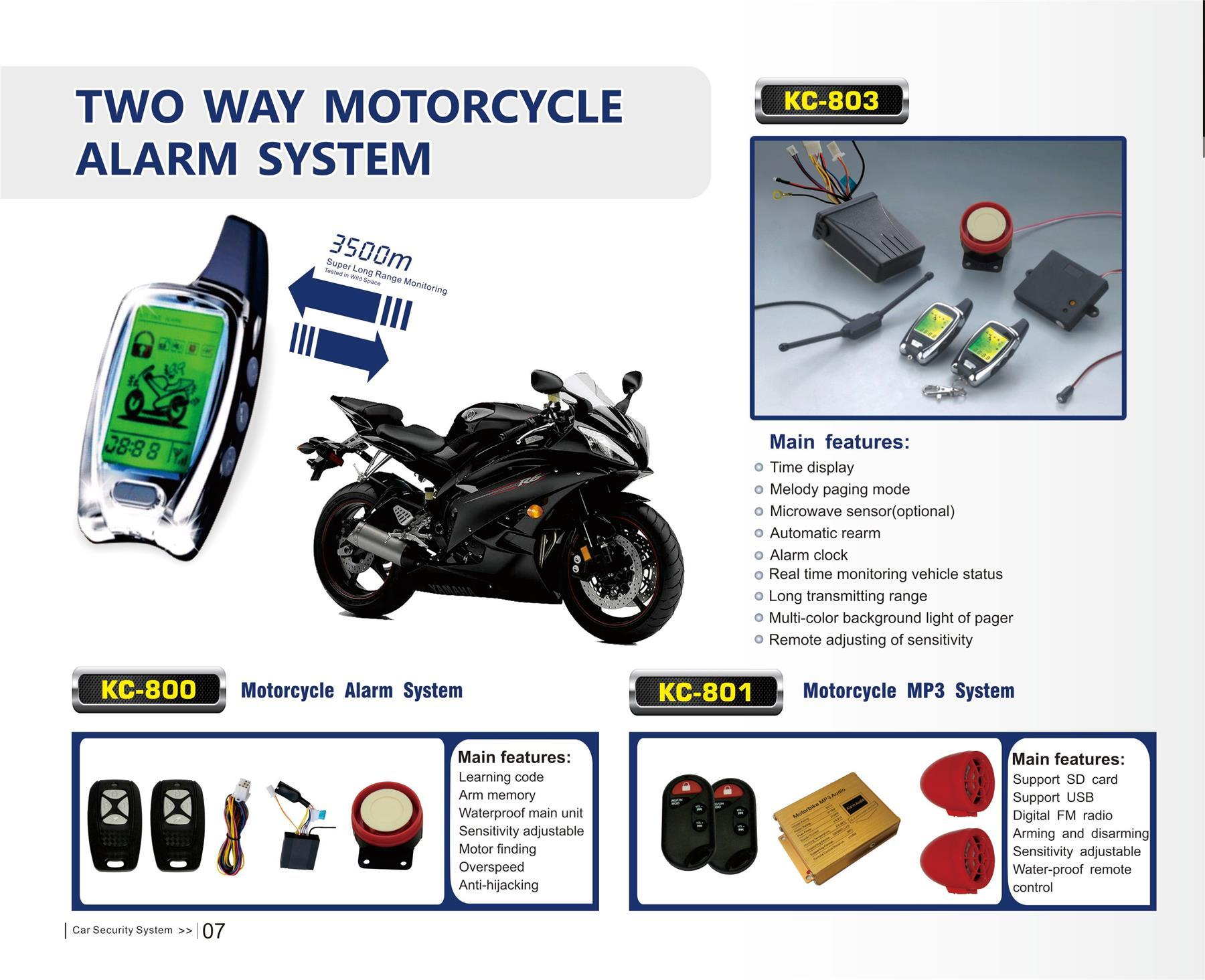 KC-803 Motorcycle two way alarm system-3